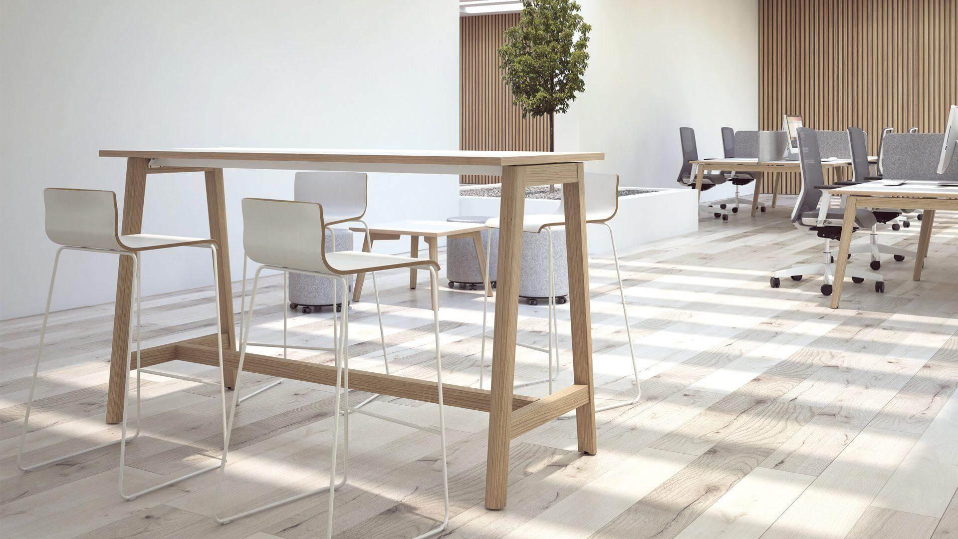 stół do krótkich spotkań na stojąco