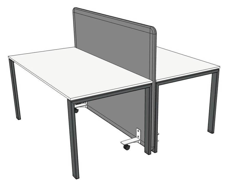 rysunek dwóch biurek