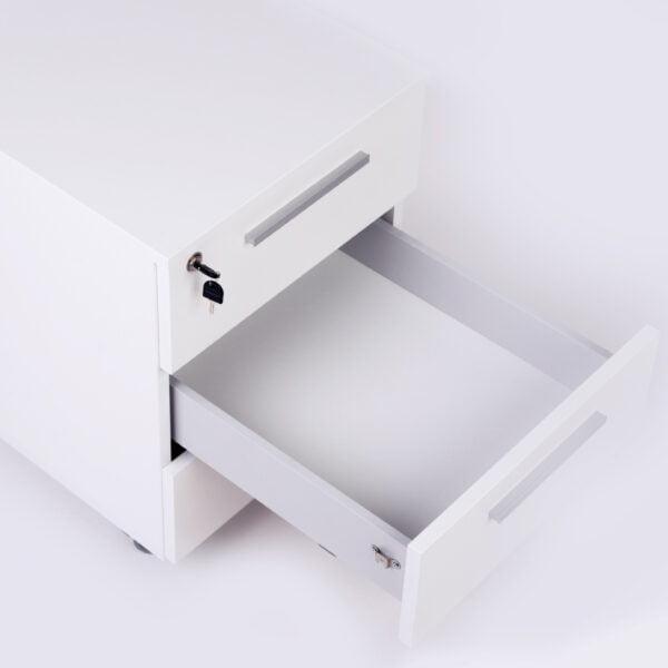 szuflada białego kontenerka zdjęcie
