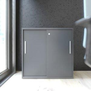 mała szafa do biura z drzwiami przesuwnymi
