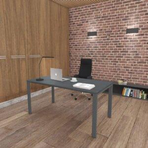 eleganckie ciemne biurko w lofcie