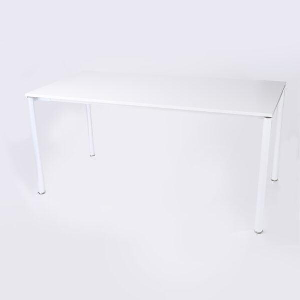 zdjęcie biurka z okrągłymi nogami na białym tle