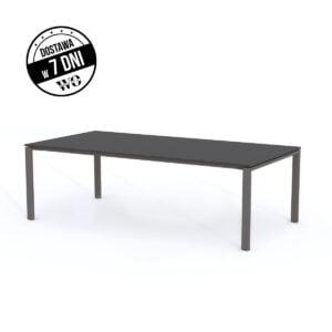 ciemny stół do spotkań na białym tle