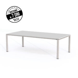 szary stół do biura pokazany na białym tle