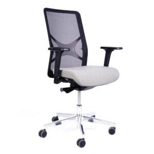 krzesło biurowe obrotowe widok z przodu na białym tle