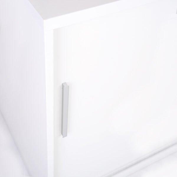 zdjęcie od góry białej szafy do biura