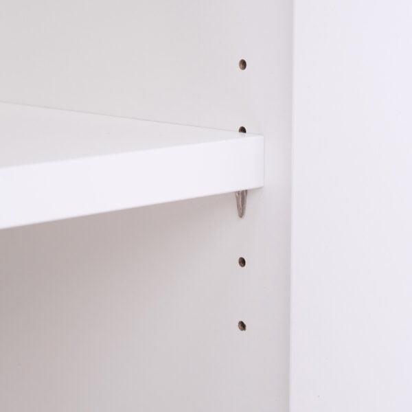 gruba biała półka biurowa na segregatory