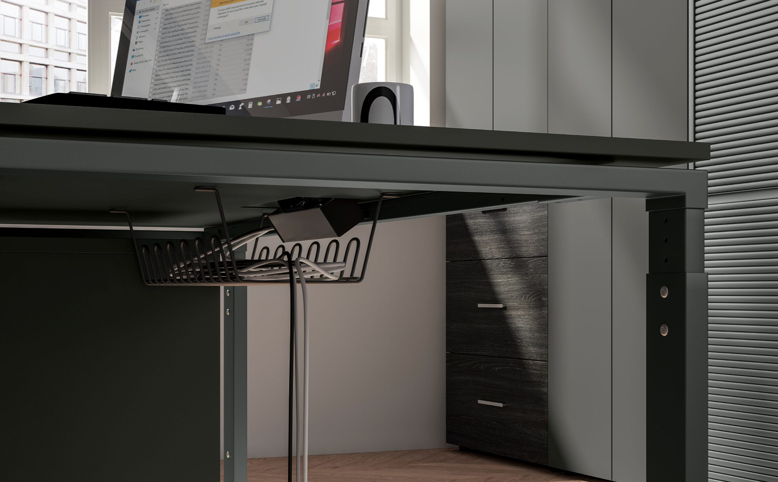 regulacja wysokości nogi biurka