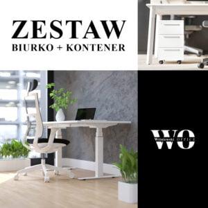 białe biurko i rośliny