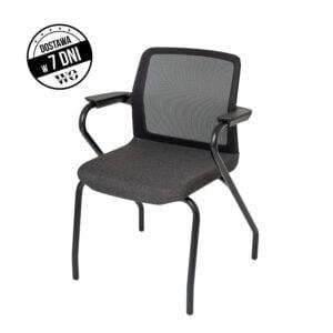 czarny fotel konferencyjny